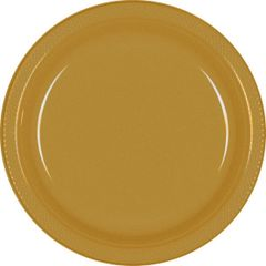 "Gold Dinner Plates, 10 1/4"" - 20ct"