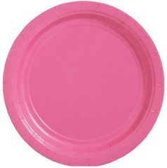 "Big Party Pack Bright Pink Dessert Paper Plates, 7"" - 50ct"