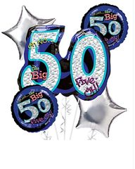 Oh No It;s My 50 Birthday Balloon Bouquet 26""
