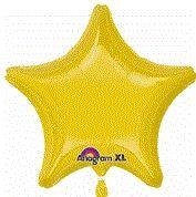 Star 07 Yellow Mylar Balloon 18in
