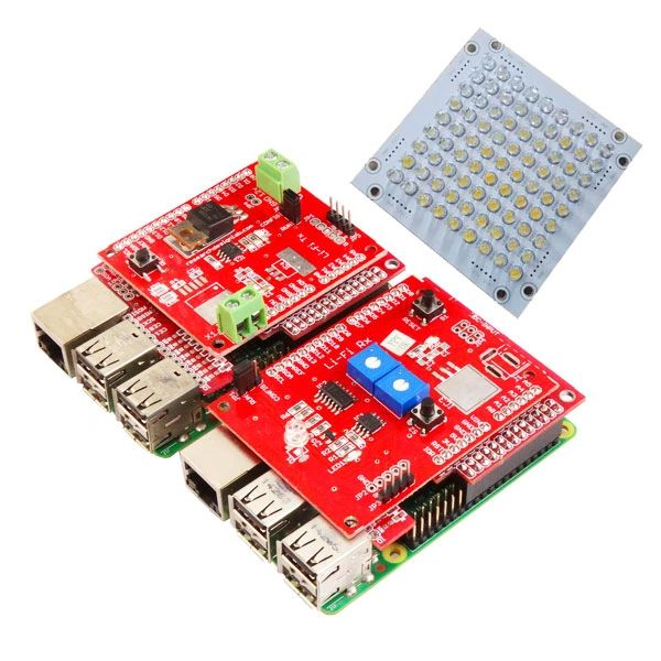 LiFi (Visible Light Communication) Compatible for Raspberry Pi