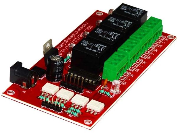 4 Relay Interfacing Board 5V Isolated Raspberry Pi and Arduino Compatible