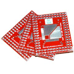 3Pcs TQFP 32-100 Pin Switch over DIP Double-sided Pinboard