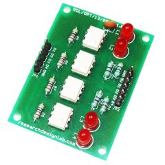 4 Channel Opto-Isolated Board Input 24V to 5V