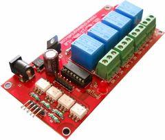 4 Relay Interfacing Board Isolated 12V