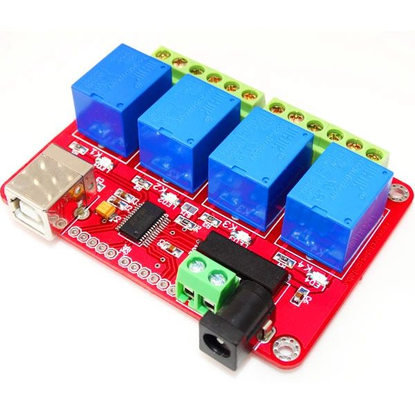 USB 4 Channel Relay Board-FT245RL