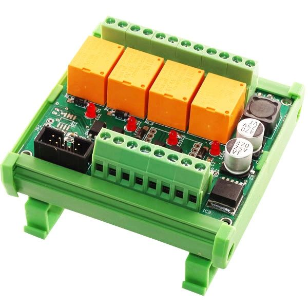DIN Rail Opto Isolated Relay