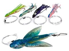 Yummee Delta Wing Flying Fish Inline Bird Fishing Lure Kits-MADE IN USA!