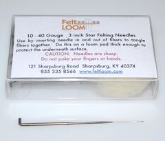 Felting Needles 40 Gauge Star