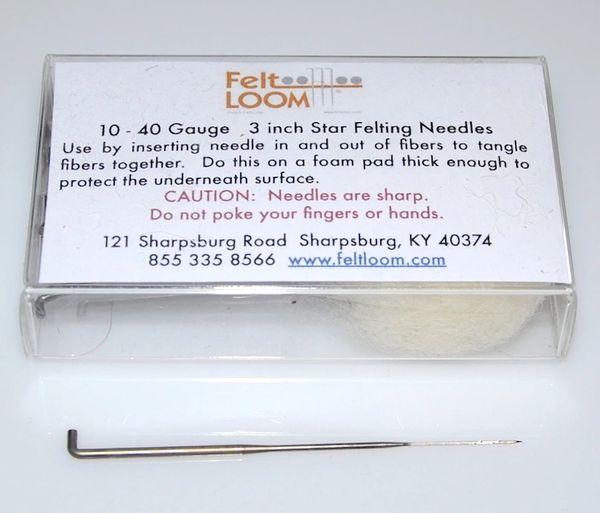 Felting Needles 40 Gauge Star