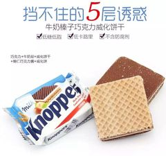 Knoppers Wafer 25gx5pc 德国Knoppers榛子威化饼干5块(保质期2018.10.02)