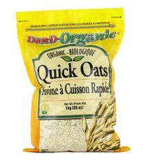 GRAIN_Dan-D-Organic Quick Oats 1Kg 有机快熟麦片1公斤袋