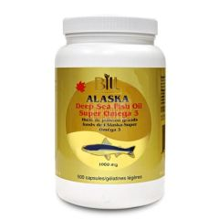 Bill Alaska Deep Sea Fish Oil Super Omega-3 1000mg 300capsules 加拿大BILL深海鱼油 300粒装