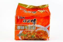 Classic Chinese Instant Noodle 康师傅香辣牛肉面