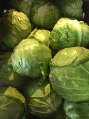 Veg.o_Two EE's Farm Organic Green Cabbage 1 Count 本地Two EE农场有机高丽菜1颗,约2磅