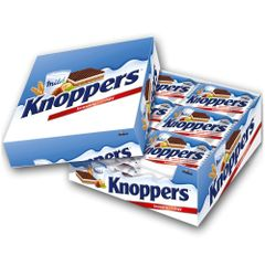 Knoppers Wafer 24X25g box 德国Knoppers榛子威化饼干24个/盒(保质期2018.10.02)
