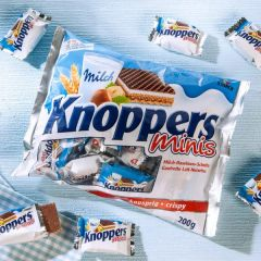 Original Minis Chocolate Knoppers Wafer 德国Knoppers【原味】迷你巧克力榛子牛奶威化饼干