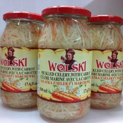 POL_Wolski Pickled Celery With Carrot 500ml (No Shipping, Pick-Up Only)