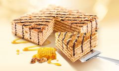 Marlenka walnut Honey cake 100g蜜莲卡核桃蜂蜜千层蛋糕100克盒