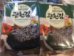 Korean Seasoned Seaweed 10itemx5g/韩国海苔零食 10包装
