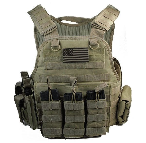 Rothco Carrier w Molle and Certified AR500 NIJ Compliant Plates ... ca619330908