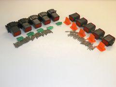 5 sets BLACK Deutsch DT 8-Pin Connectors 14-16 ga AWG Solid Contacts