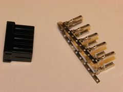 1 Harley 10x Black OEM Amp/Tyco Multi-lock MALE conector+terminals
