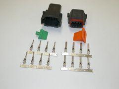8X Black Deutch DT Series Connector Set 16-18-20 STAMPED Nickel Terminals