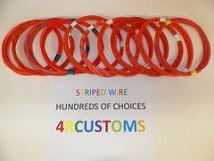 16 gauge GXL wire - Individual Orange Striped Color and Size Options