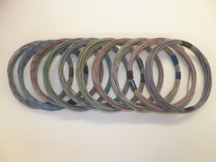 GRAY hi temp automotive 20 gauge TXL wire + 10 STRIPED color wiring options
