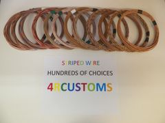 18 gauge GXL wire - Individual Tan Striped Color and Size Options