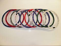 18 gauge GXL wire- 10 striped colors each 10 foot long