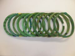 LT GREEN hi temp automotive 20 gauge TXL wire + 11 STRIPED color wiring options