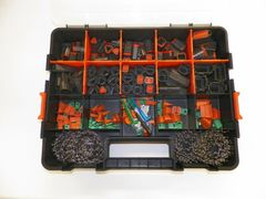 518 PC BLACK DEUTSCH DT CONNECTOR KIT STAMPED CONTACTS + REMOVAL TOOLS