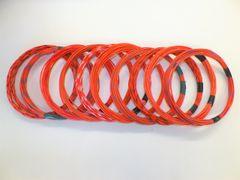 ORANGE hi temp automotive 20 gauge TXL wire + 10 STRIPED color wiring options