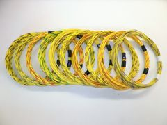 YELLOW hi temp automotive 20 gauge TXL wire + 10 STRIPED color wiring options