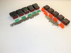 5 sets BLACK Deutsch DT 12-Pin Connectors 14-16-18 ga AWG Solid Contacts