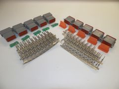 5 sets GRAY Deutsch DT 12-Pin Connectors 16-18 ga AWG Stamped Contacts