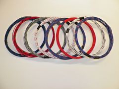 18 gauge GXL wire- 8 striped colors each 10 foot long