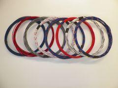 20 gauge TXL wire - 8 STRIPED colors each 25 foot long