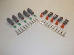 5 sets GRAY Deutsch DT 2-Pin Connectors 14-16 ga AWG Stamped Contacts