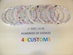WHITE 16 gauge GXL wire - with stripe color and length options