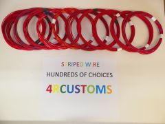 18 gauge GXL wire - Individual Red Striped Color and Size Options