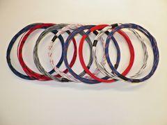 18 gauge GXL wire- 8 striped colors each 25 foot long
