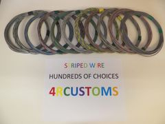 18 gauge GXL wire - Individual Gray Striped Color and Size Options
