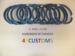 LIGHT BLUE 18 gauge GXL wire - with stripe color and length options