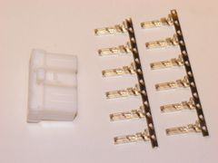1 Harley 12x White OEM Amp/Tyco Multi-lock MALE conector+terminals