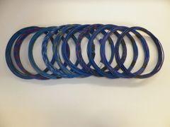 BLUE hi temp automotive 20 gauge TXL wire + 10 STRIPED color wiring options