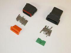 12X Black Deutsch DT Series Connector Set 14-16-18 SOLID Nickel Terminals