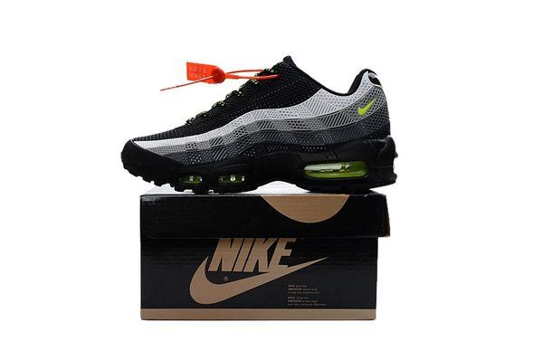 Men's Nike Air Max 95 iD Black/Grey/Green Shoes